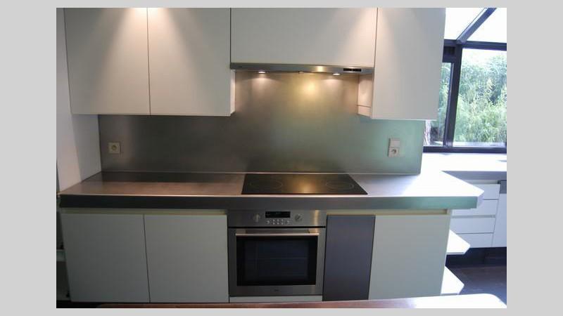 Inox Design Keukens : Inox spatwand