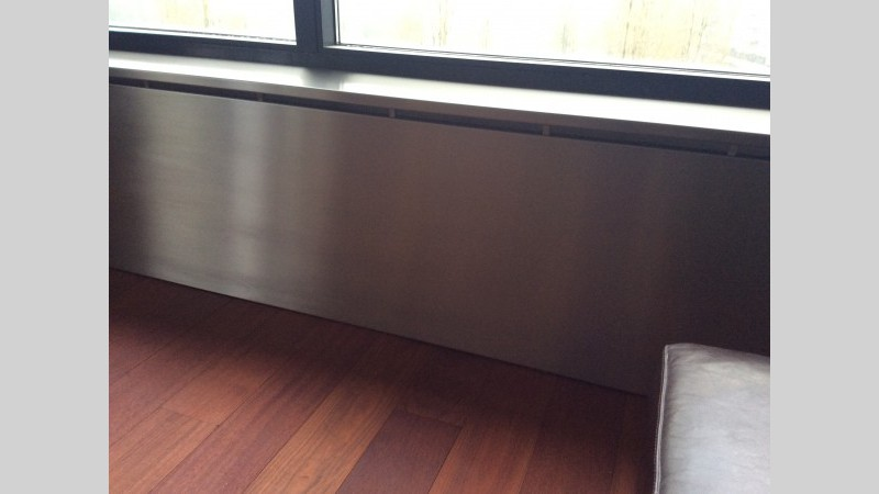Inox Keuken Plaat : Inox radiator omkasting inox plaat VDC inox
