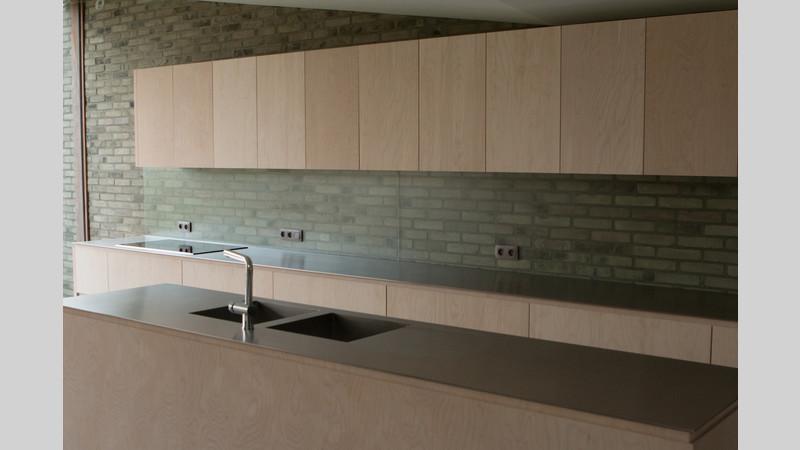 Spatwand Keuken Inox : Inox keukenwerkblad massief VDC inox.jpg